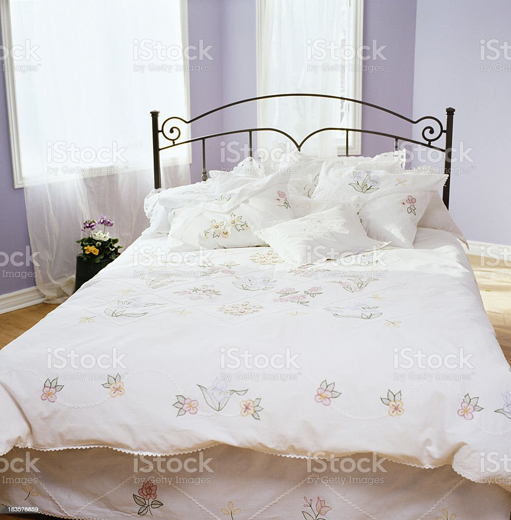 Simple bedroom royalty-free stock photo