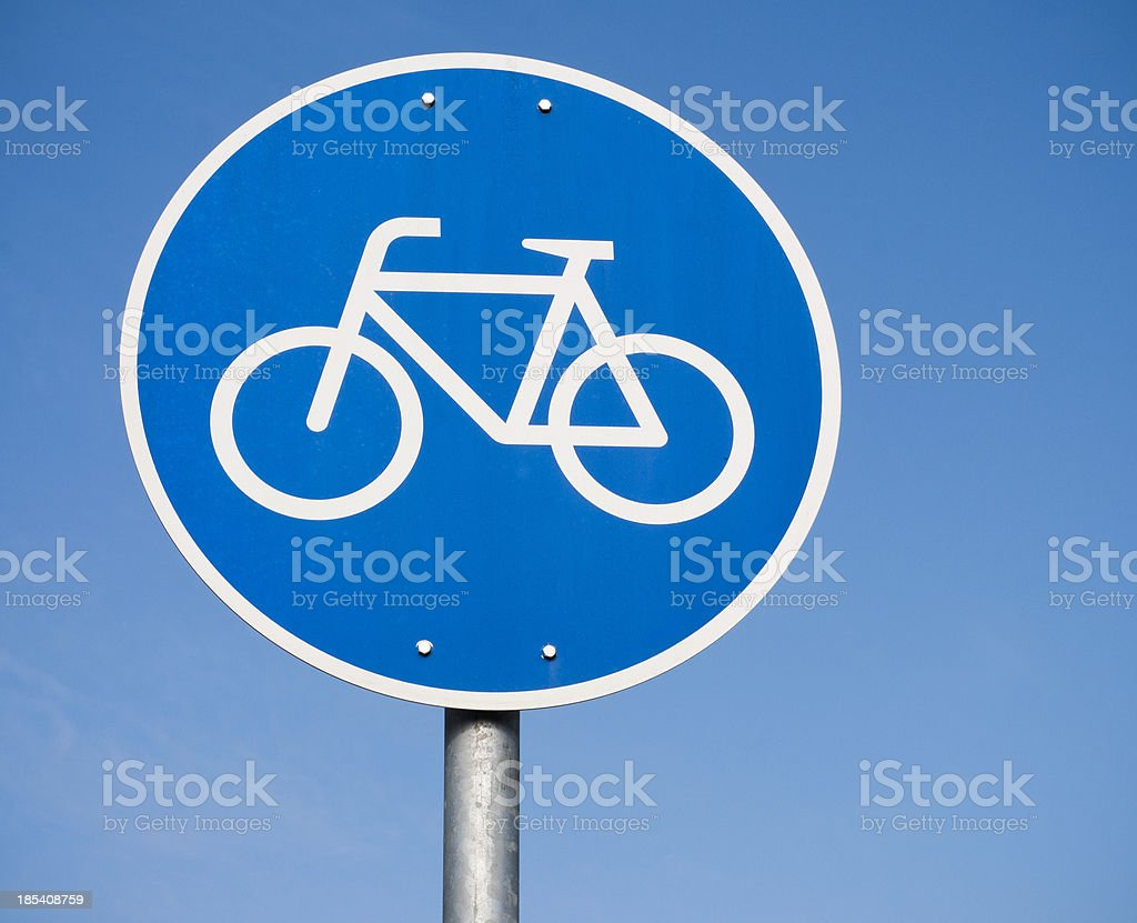 Simple Bicycle Sign stock photo