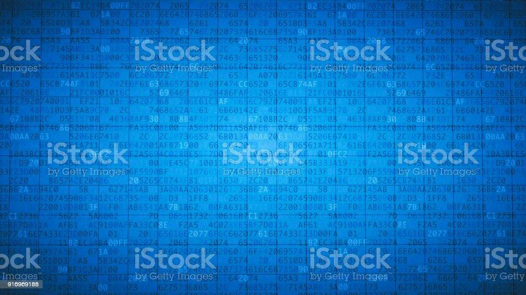 Einfache blaue verschlüsselte Tabelle – Foto