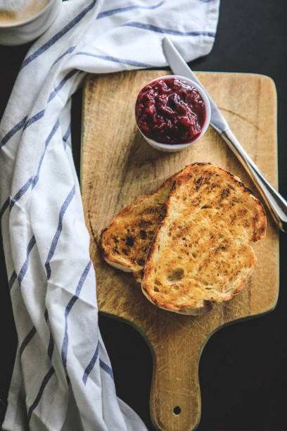 Simple Breakfast, Coffee And Bread stock photo