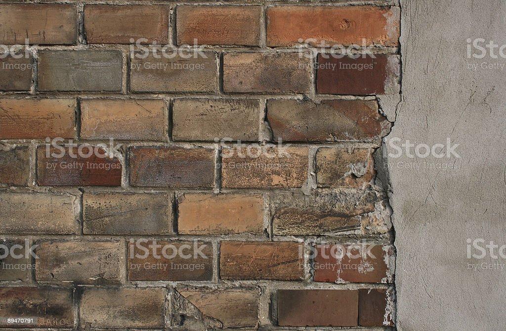 Simple Brick Wall Detail stock photo