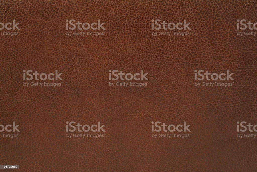 Simple brown leather textured background stock photo