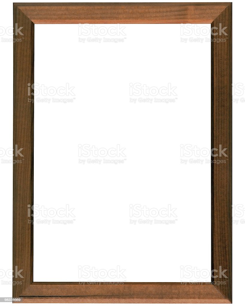 Simple brown wood frame royalty-free stock photo
