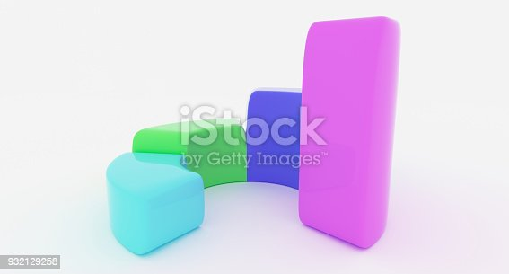 171361168 istock photo Simple Business Circle Chart With Four Rising Sections 932129258