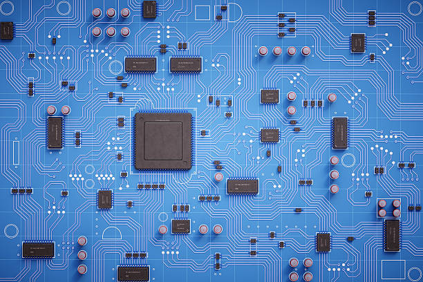 simple circuit board top view - mother board stock pictures, royalty-free photos & images
