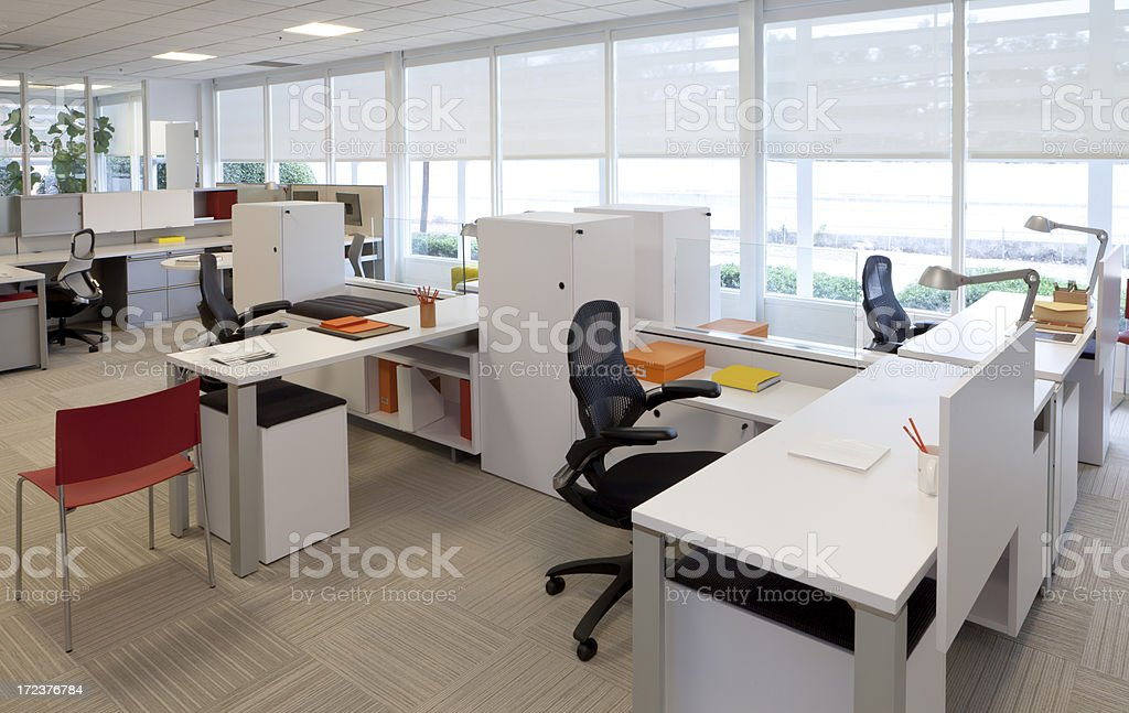 Simple contemporary office scene. One of a series. stock photo