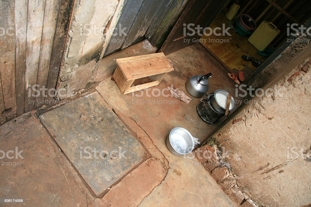 Simple Cooking Area in a House - Jinja Town in Uganda stock photo