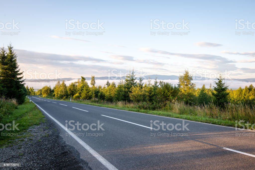 simple country road in summer photo libre de droits
