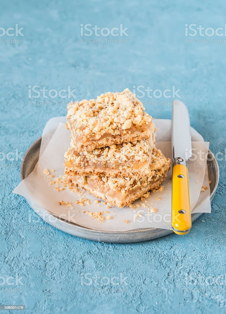 Simple delicious apple pie. Apple slices royalty-free stock photo