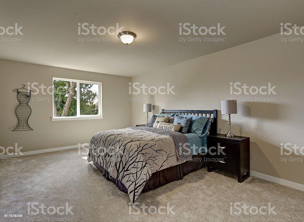 Simple Design Interior Of Beige Womans Bedroom Stock Photo Download Image Now Istock