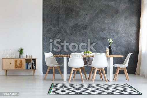 istock Simple dining room 836454626