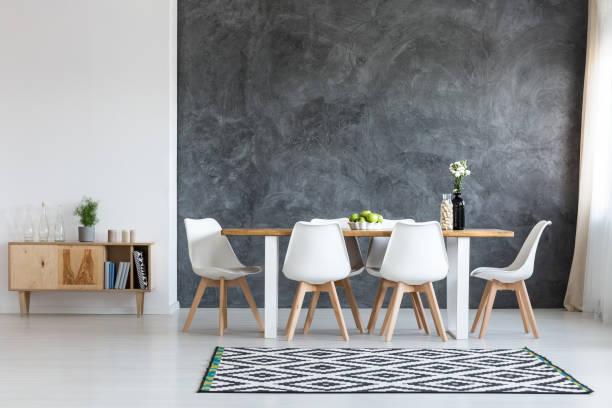sala de jantar simples - escandinavo - fotografias e filmes do acervo