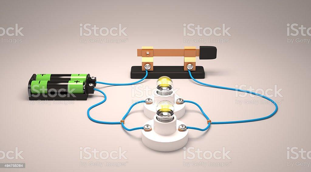 Circuito En Paralelo : Simple circuito eléctrico paralelo foto de stock y más banco de