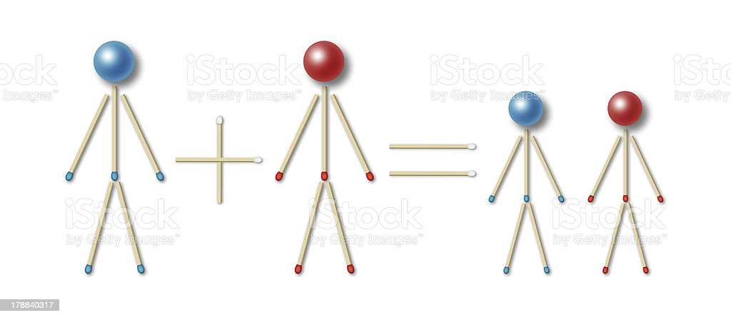 simple family equation royalty-free stock photo