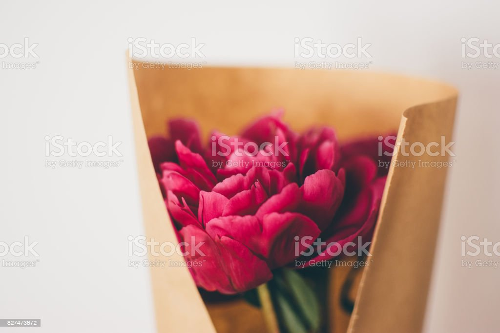 Simple Flower arrangement stock photo