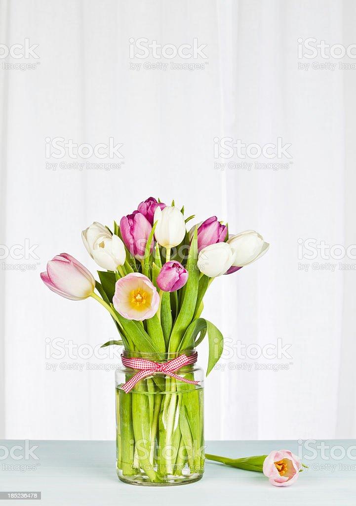Simple Flower Arrangement with Copyspace stock photo