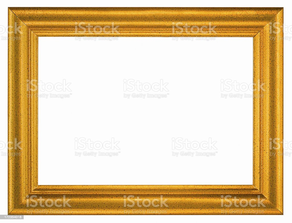 Simple Gilded Picture Frame 5X7.  Isolated with Clipping Path royalty-free stock photo