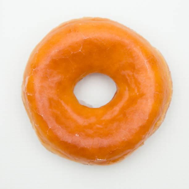 simple glazed donuts - pianura foto e immagini stock
