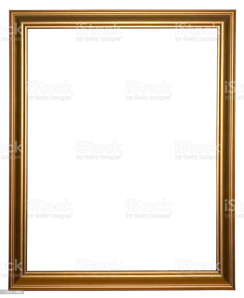 Simple gold frame royalty-free stock photo