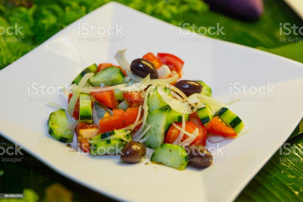 Simple Greek salad royalty-free stock photo
