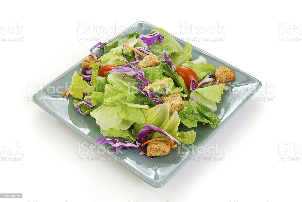 Simple Green Salad royalty-free stock photo