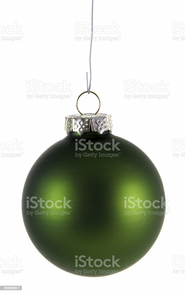 Simple Green Xmas Bauble royalty-free stock photo