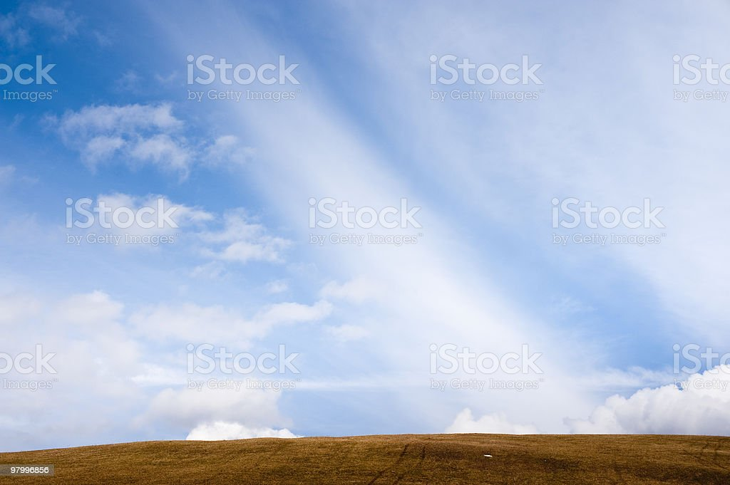 Simple horizon royalty-free stock photo