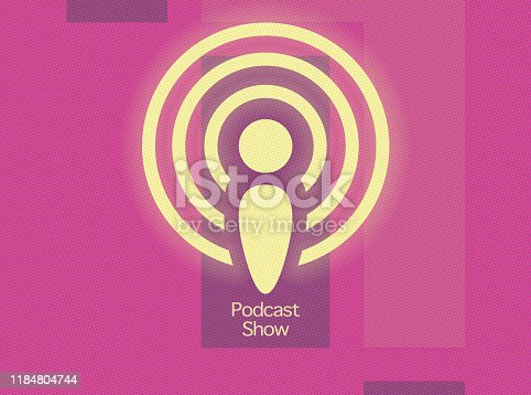 istock simple icon of the podcast application for smartphone background 1184804744