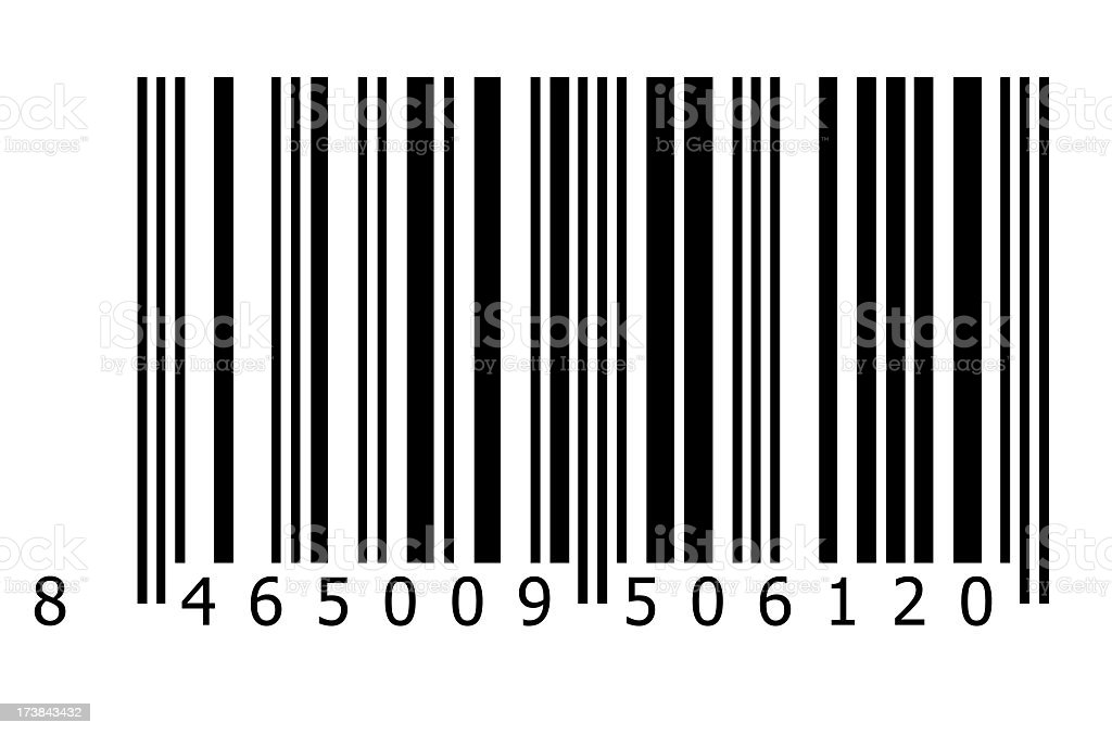 A simple image of a striped barcode stock photo