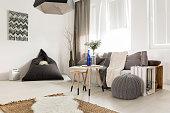 Simple interior in scandi style
