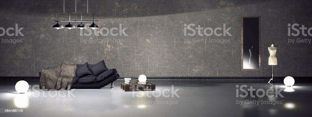 Simple interior stock photo