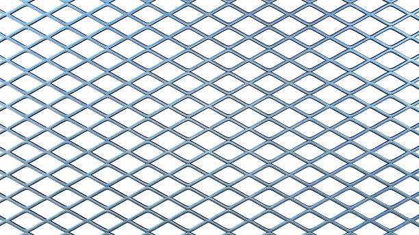 Simple Isolated Railing In a Rhomboid Shape stock photo