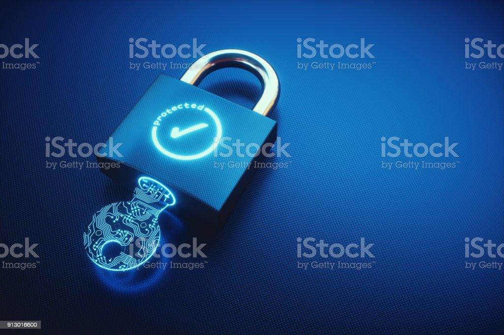 Einfachen Schlüssel und Schloss mit