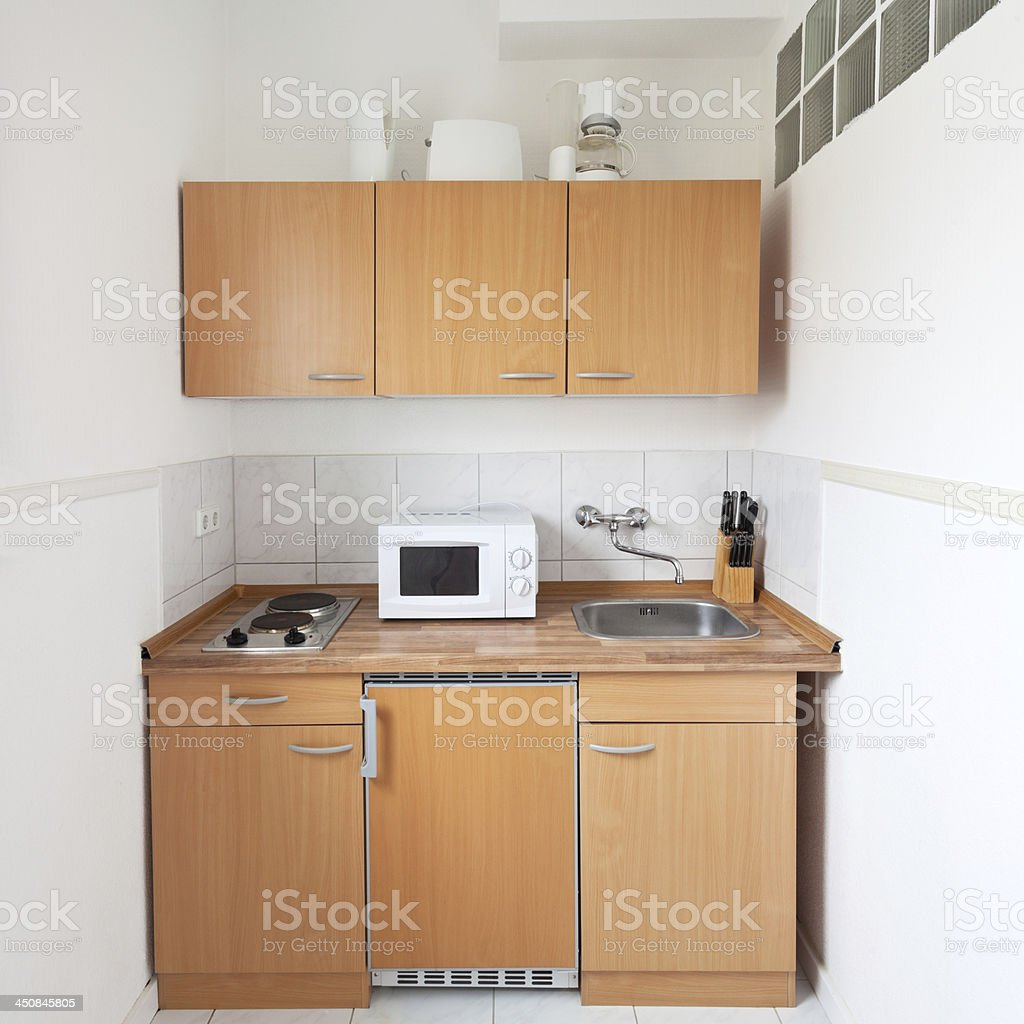 Simple Kitchen With Furniture Set Stock Photo - Download Image Now