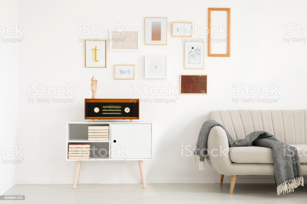 Simple living room interior stock photo