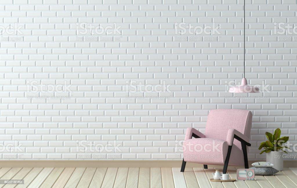 Photo libre de droit de Fauteuil De Salon Simple Rose Devant ...