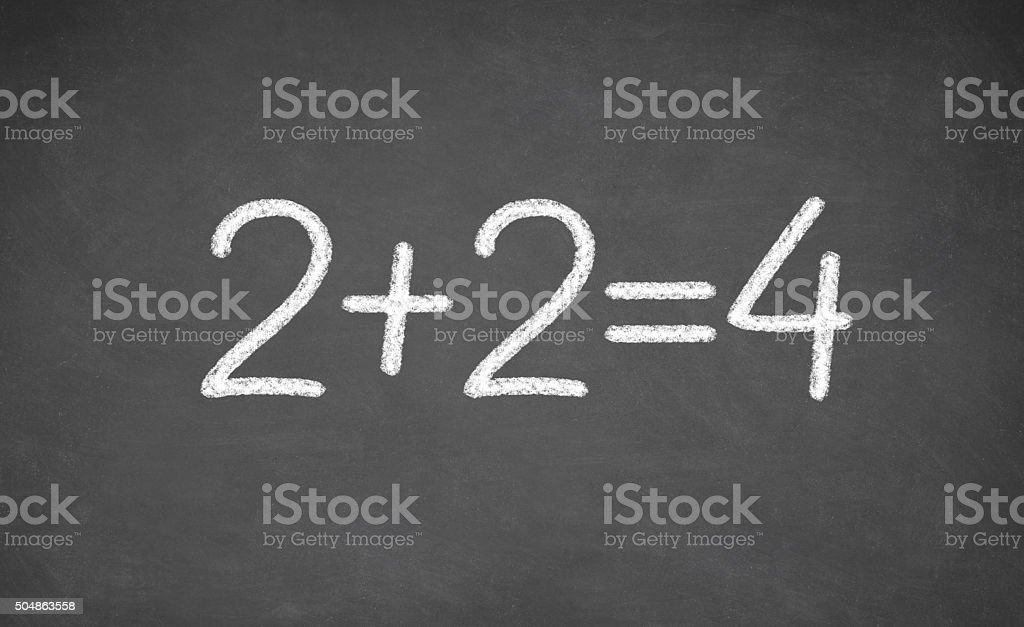 simple mathematical equation stock photo
