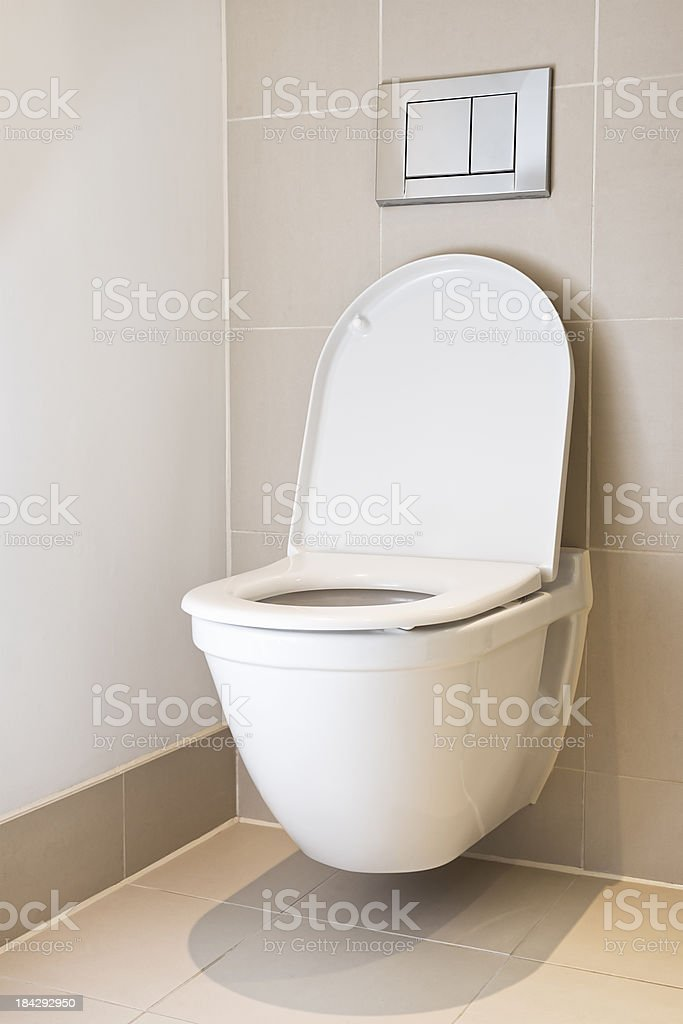 Simple Modern Toilet stock photo