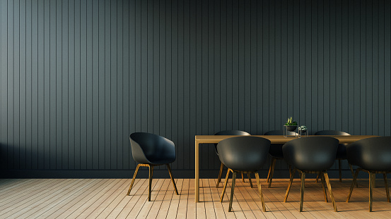 istock Simple of Working and Dining set Modern 500111520