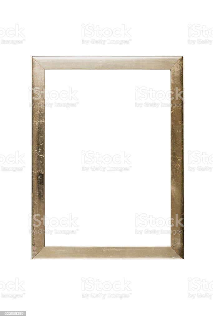 Simple Old Golden Picture Frame Isolated On White Stock Photo & More ...