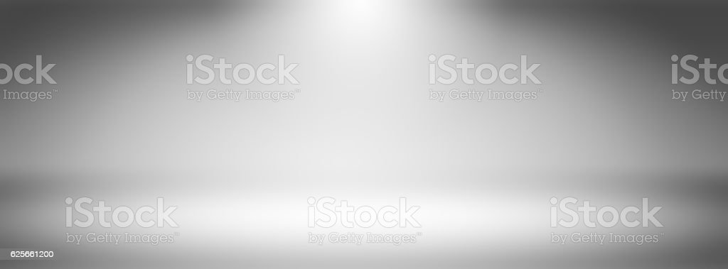 Simple panorama wide screen white gradients light Blurred Background,Easy vector art illustration