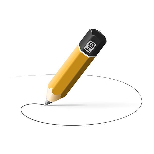 simple crayon de ligne tracée (demi-pension) - Photo