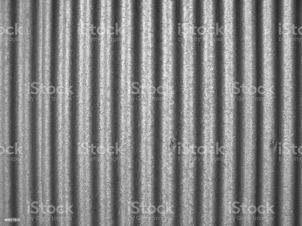 Simple photo of corrugated steel stock photo