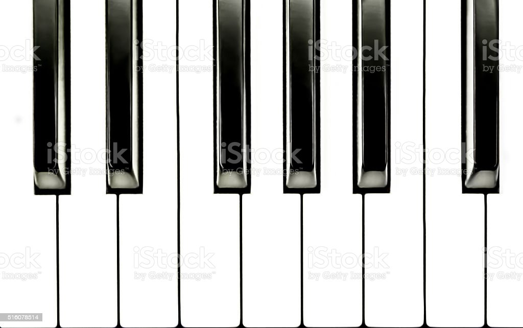 Simple Piano Keyboard Close Up stock photo