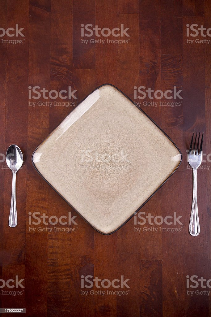 Simple Place Setting royalty-free stock photo