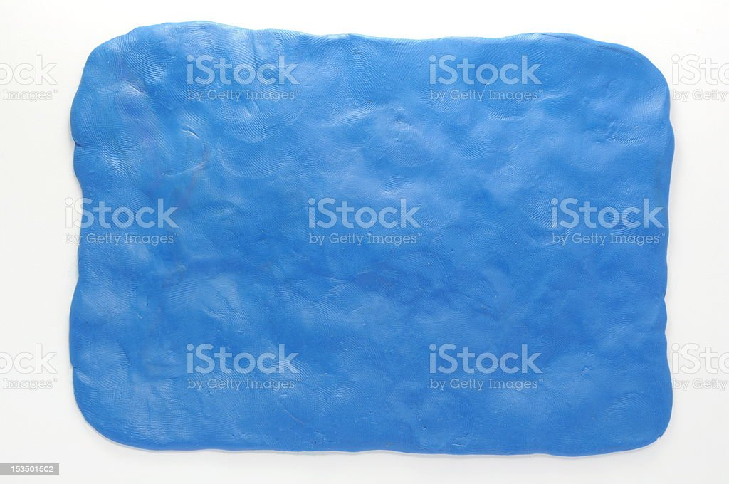 Simple plasticine blue background stock photo
