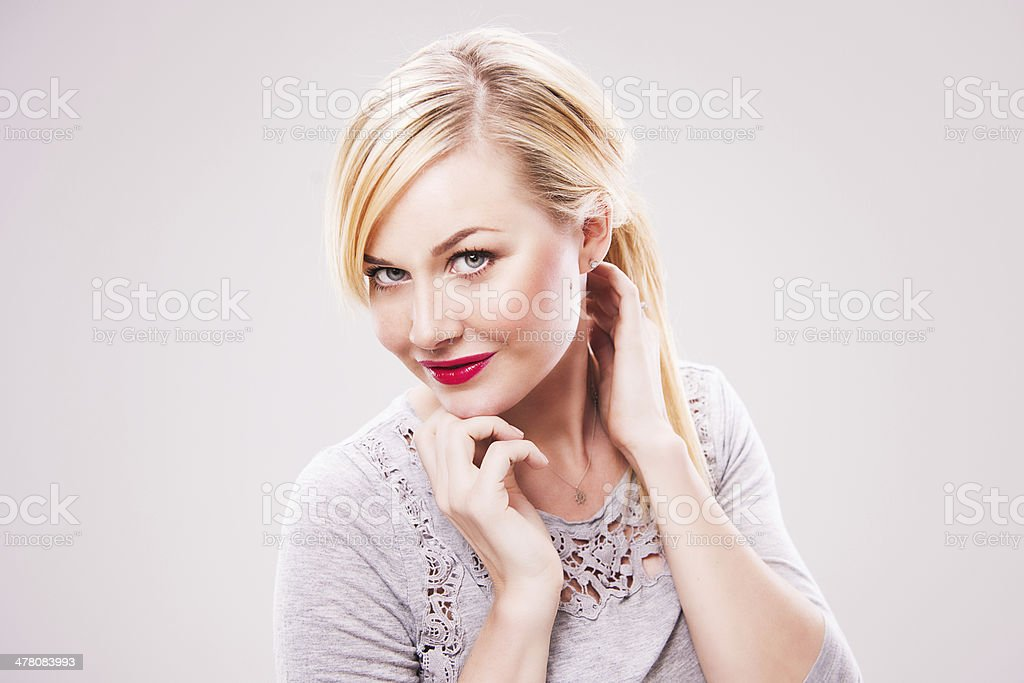 Simple portrait of beautiful woman royalty-free stock photo