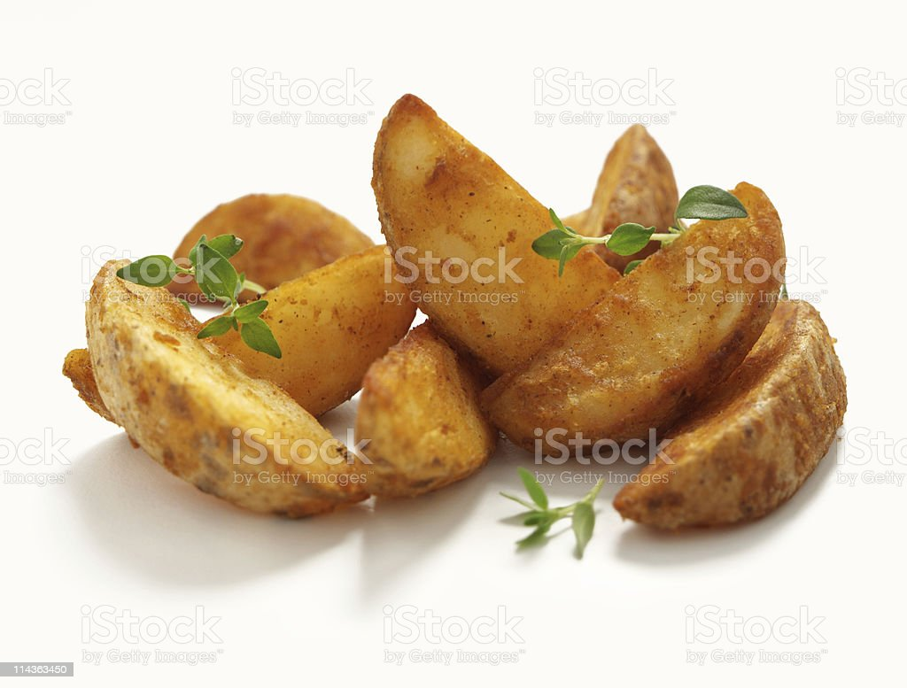 Simple Potatoes Wedges stock photo