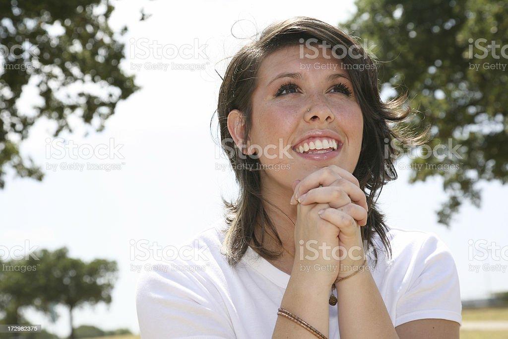 Simple Prayer royalty-free stock photo
