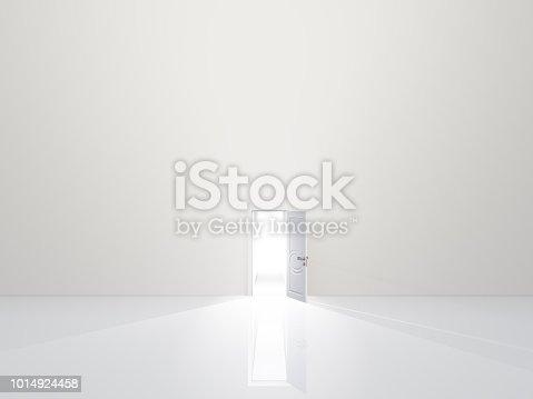 922736646 istock photo Simple purity. Open Door 1014924458